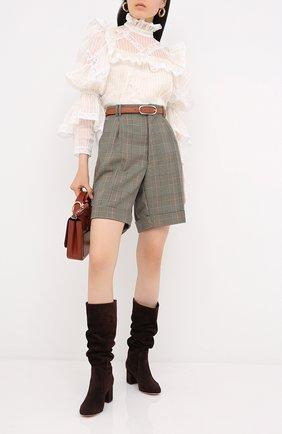 Женские замшевые сапоги daywear GIANVITO ROSSI коричневого цвета, арт. G80401.60RIC.C45W00D | Фото 2