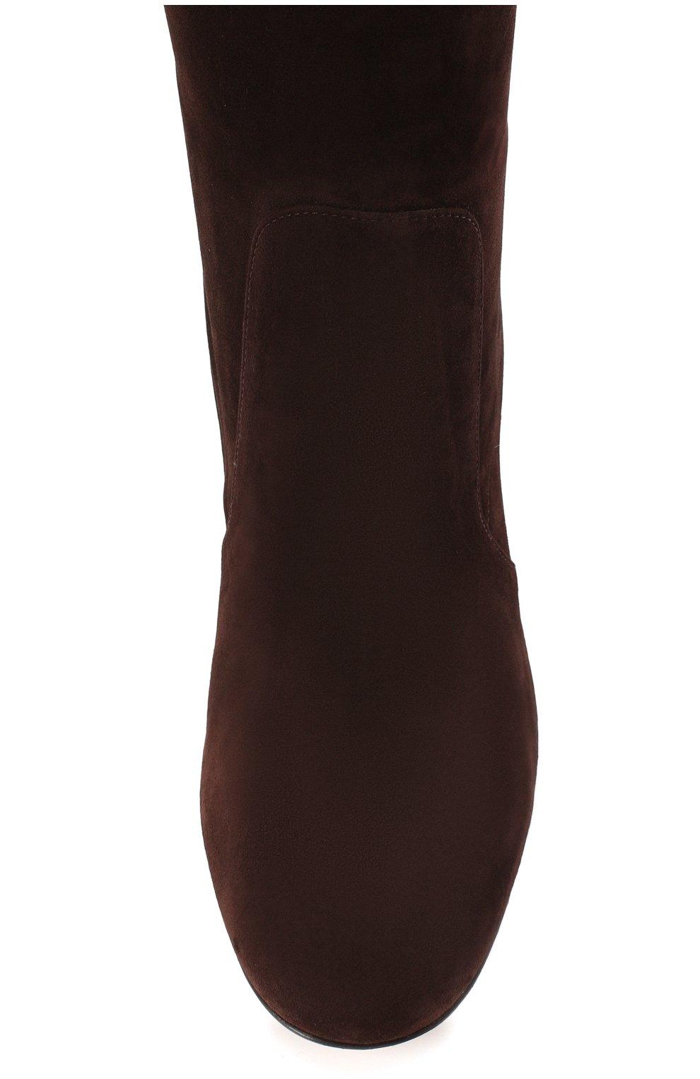Женские замшевые сапоги daywear GIANVITO ROSSI коричневого цвета, арт. G80401.60RIC.C45W00D | Фото 5