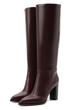 Женские кожаные сапоги daywear GIANVITO ROSSI бордового цвета, арт. G80403.85CU0.VITR0YA | Фото 1