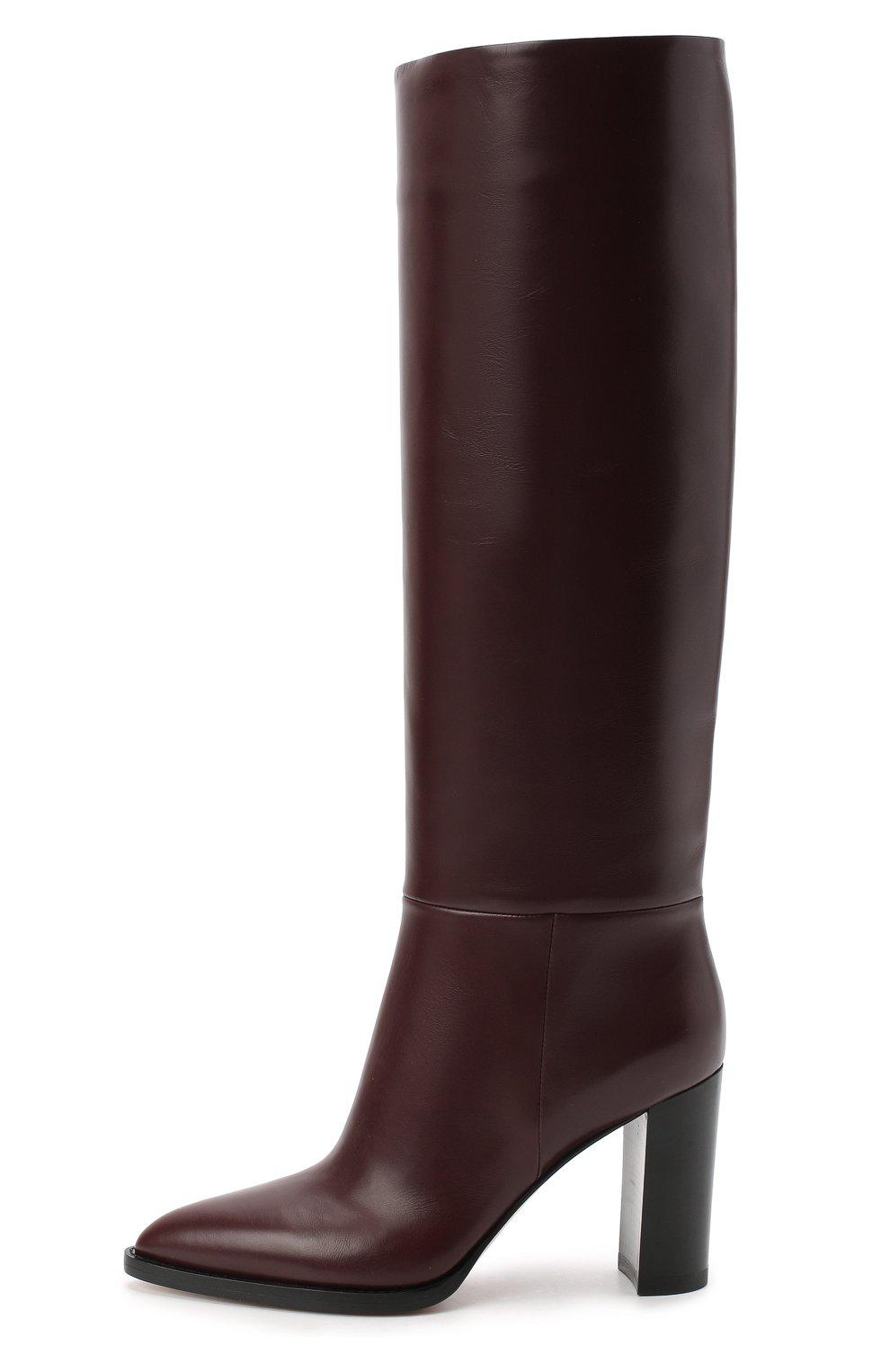 Женские кожаные сапоги daywear GIANVITO ROSSI бордового цвета, арт. G80403.85CU0.VITR0YA | Фото 3