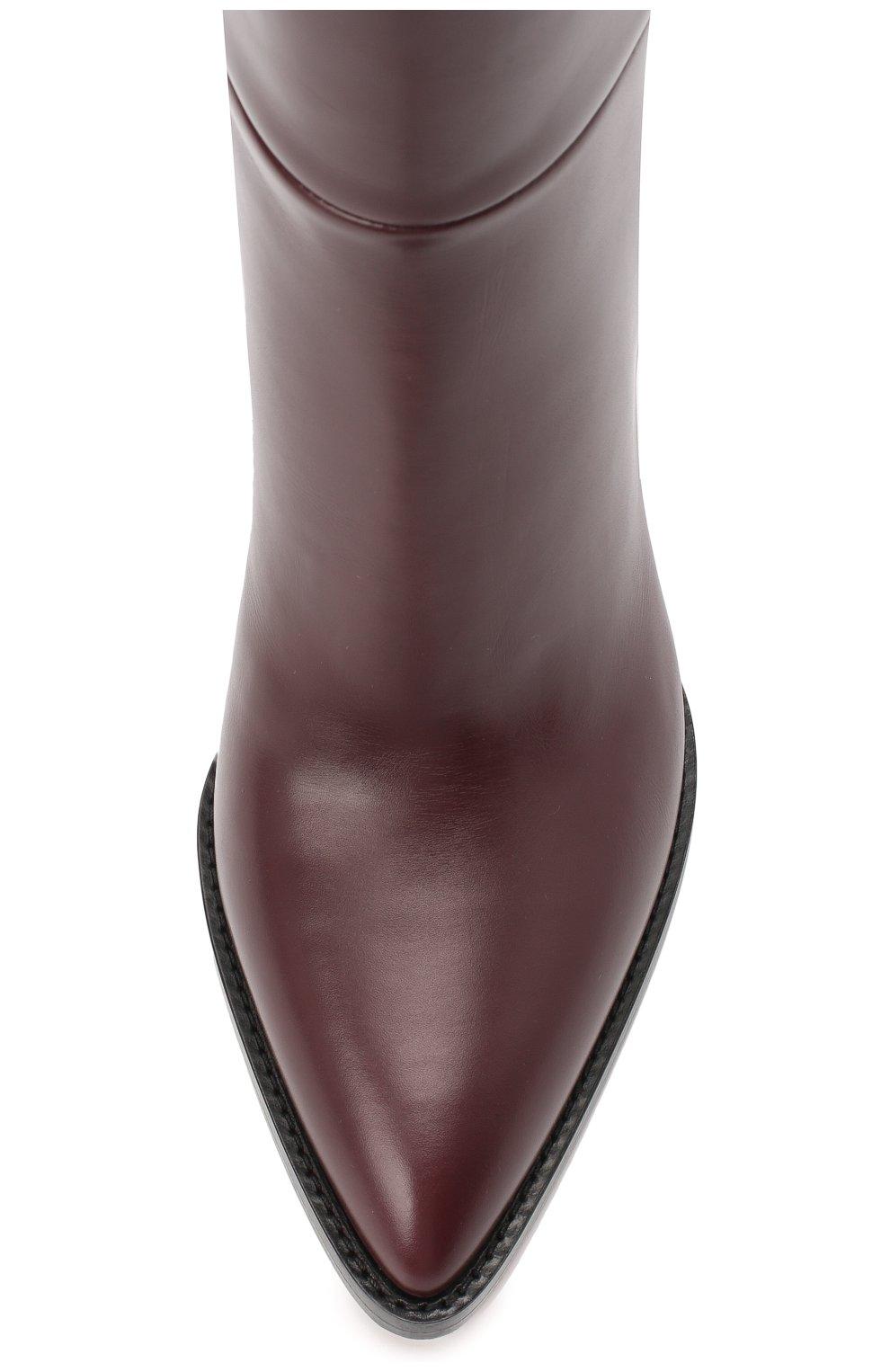 Женские кожаные сапоги daywear GIANVITO ROSSI бордового цвета, арт. G80403.85CU0.VITR0YA | Фото 5