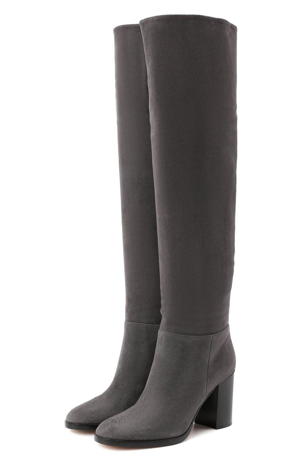 Женские замшевые сапоги daywear GIANVITO ROSSI серого цвета, арт. G80484.85CU0.C45LAPI | Фото 1