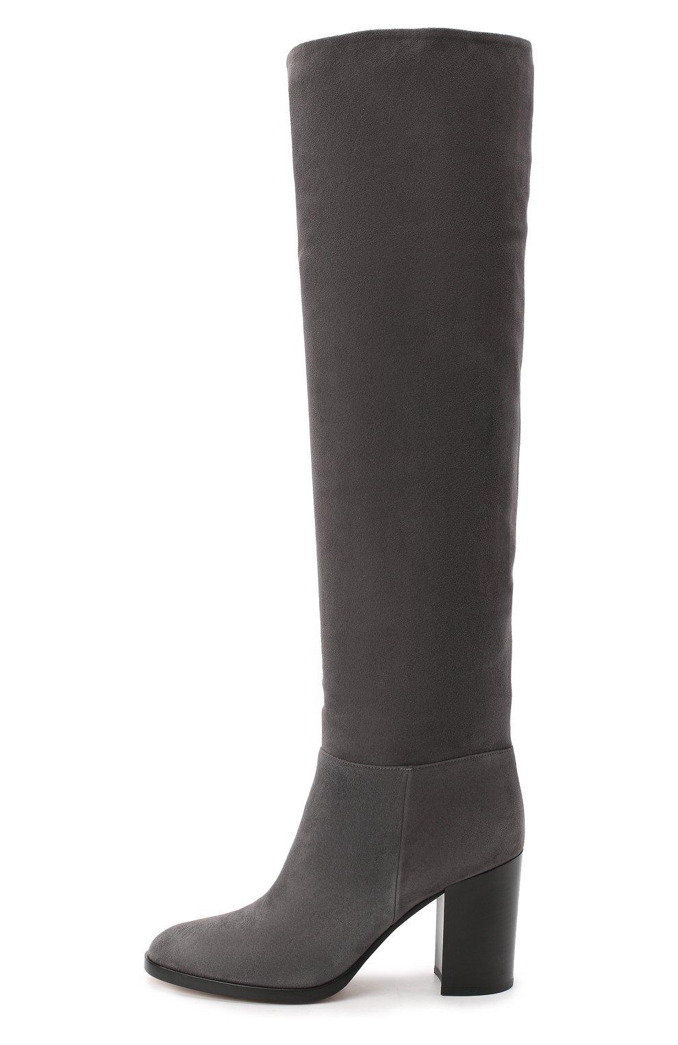 Женские замшевые сапоги daywear GIANVITO ROSSI серого цвета, арт. G80484.85CU0.C45LAPI | Фото 3