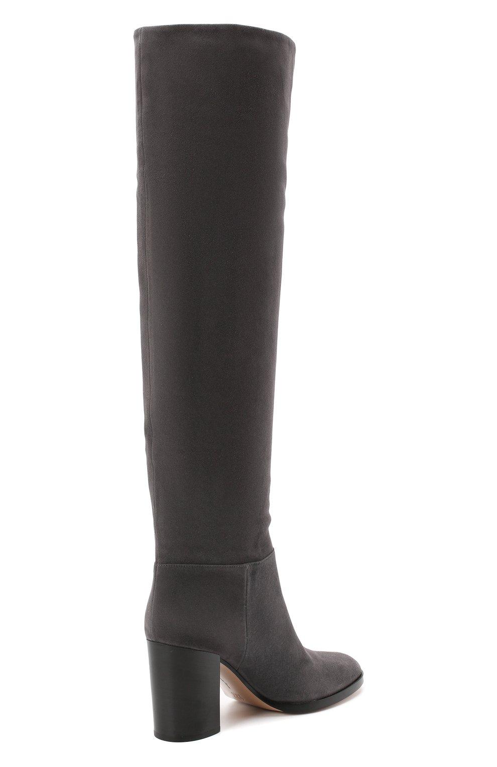 Женские замшевые сапоги daywear GIANVITO ROSSI серого цвета, арт. G80484.85CU0.C45LAPI | Фото 4