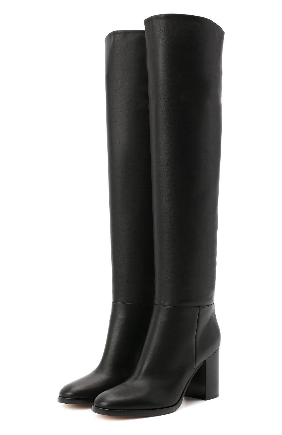 Женские кожаные сапоги daywear GIANVITO ROSSI черного цвета, арт. G80484.85CU0.VGTNER0 | Фото 1