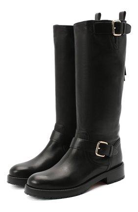 Женские кожаные сапоги REDVALENTINO черного цвета, арт. UQ2S0D95/KBB   Фото 1