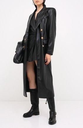 Женские кожаные сапоги REDVALENTINO черного цвета, арт. UQ2S0D95/KBB   Фото 2