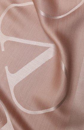 Женская шаль из шелка и шерсти valentino garavani VALENTINO бежевого цвета, арт. UW2EB104/AJB | Фото 2