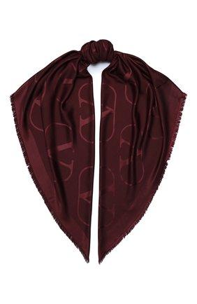 Женская шаль из шелка и шерсти valentino garavani VALENTINO бордового цвета, арт. UW2EB104/AJB | Фото 1