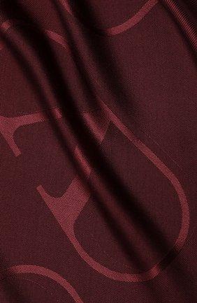 Женская шаль из шелка и шерсти valentino garavani VALENTINO бордового цвета, арт. UW2EB104/AJB | Фото 2