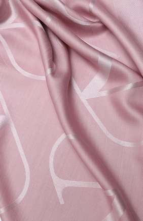Женская шаль из шелка и шерсти valentino garavani VALENTINO розового цвета, арт. UW2EB104/AJB | Фото 2