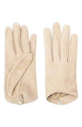 Женские кожаные перчатки GIORGIO ARMANI бежевого цвета, арт. 794217/0A221 | Фото 2