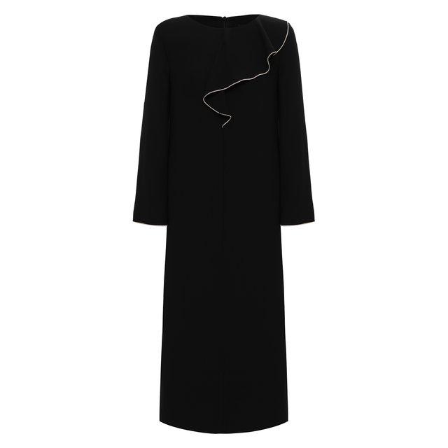 Платье из вискозы и шелка Giorgio Armani