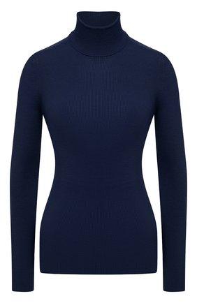 Женская водолазка из кашемира и шелка TOM FORD темно-синего цвета, арт. MAK840-YAX176 | Фото 1 (Материал внешний: Шерсть, Шелк, Кашемир; Длина (для топов): Стандартные; Рукава: Длинные; Стили: Кэжуэл; Женское Кросс-КТ: Водолазка-одежда)