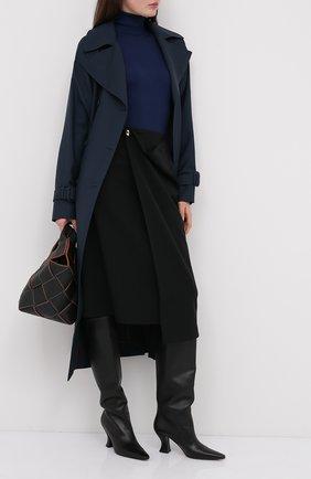 Женская водолазка из кашемира и шелка TOM FORD темно-синего цвета, арт. MAK840-YAX176 | Фото 2 (Материал внешний: Шерсть, Шелк, Кашемир; Длина (для топов): Стандартные; Рукава: Длинные; Стили: Кэжуэл; Женское Кросс-КТ: Водолазка-одежда)