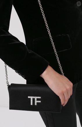 Женский клатч tf evening TOM FORD черного цвета, арт. L1369P-TSA001 | Фото 2