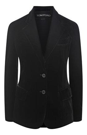 Женский жакет из вискозы TOM FORD черного цвета, арт. GI2735-FAX103 | Фото 1
