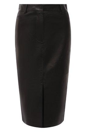 Женская кожаная юбка TOM FORD черного цвета, арт. GCL804-LEX228 | Фото 1