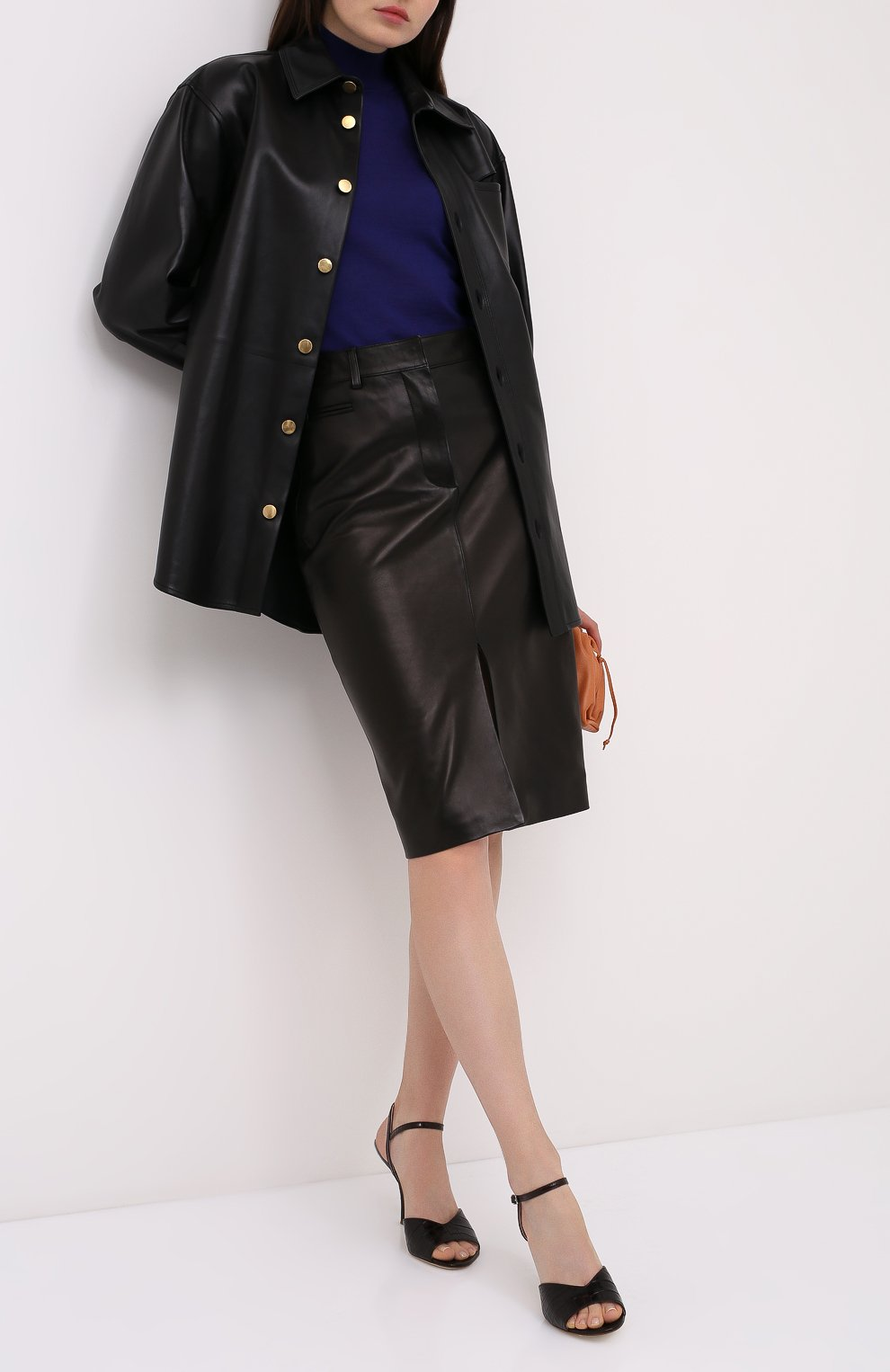 Женская кожаная юбка TOM FORD черного цвета, арт. GCL804-LEX228 | Фото 2