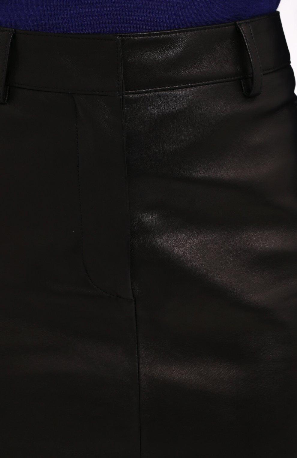 Женская кожаная юбка TOM FORD черного цвета, арт. GCL804-LEX228 | Фото 5