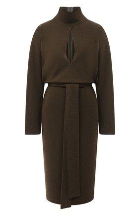 Женское кашемировое платье TOM FORD хаки цвета, арт. ACK241-YAX226 | Фото 1