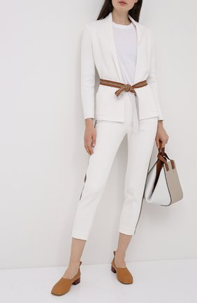 Женские брюки из шелка и хлопка LORO PIANA белого цвета, арт. FAL1360 | Фото 2