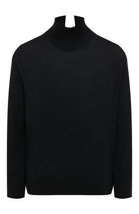 Женский пуловер из кашемира и шелка LORO PIANA темно-синего цвета, арт. FAL2052   Фото 1