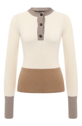 Женская кашемировый пуловер LORO PIANA кремвого цвета, арт. FAL2070 | Фото 1