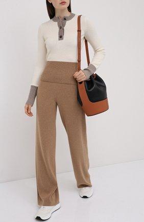 Женская кашемировый пуловер LORO PIANA кремвого цвета, арт. FAL2070 | Фото 2