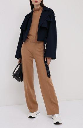 Женские брюки из кашемира и шелка LORO PIANA бежевого цвета, арт. FAL2678   Фото 2