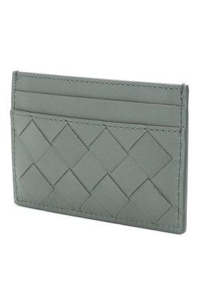 Женский кожаный футляр для кредитных карт BOTTEGA VENETA голубого цвета, арт. 635064/VCPQ3 | Фото 2