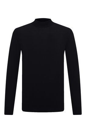 Мужской шерстяная водолазка LORO PIANA темно-синего цвета, арт. FAI8084 | Фото 1