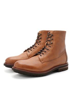 Мужские кожаные ботинки BRUNELLO CUCINELLI бежевого цвета, арт. MZUCPAM957 | Фото 1