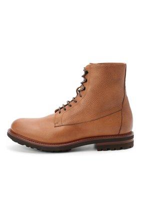 Мужские кожаные ботинки BRUNELLO CUCINELLI бежевого цвета, арт. MZUCPAM957 | Фото 3