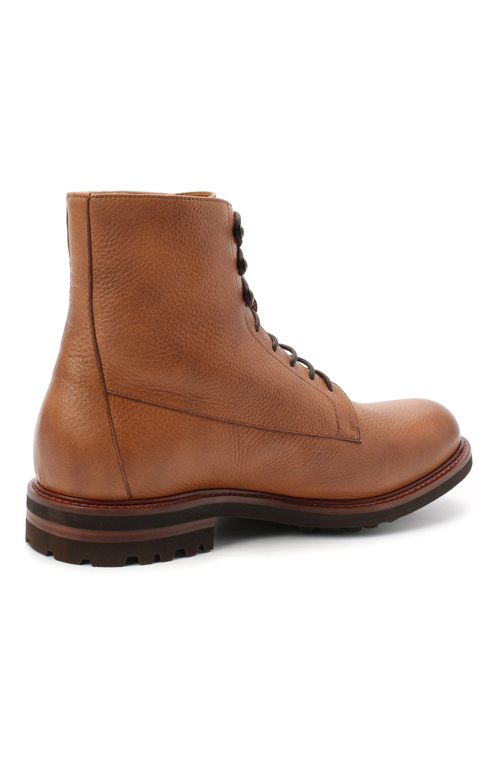 Мужские кожаные ботинки BRUNELLO CUCINELLI бежевого цвета, арт. MZUCPAM957 | Фото 4