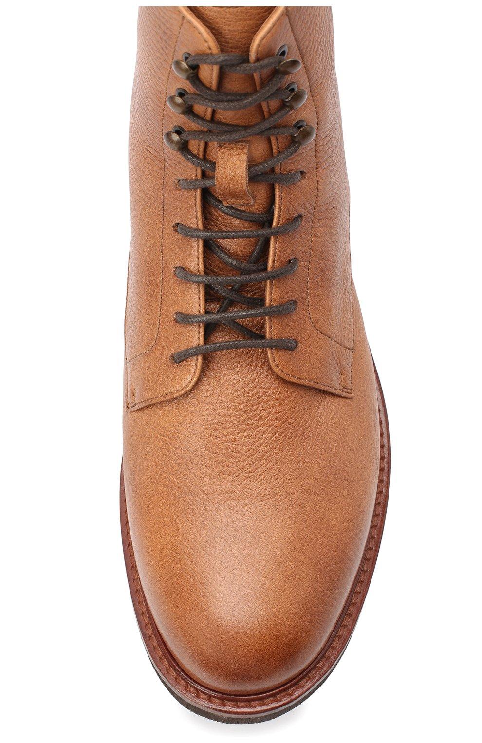 Мужские кожаные ботинки BRUNELLO CUCINELLI бежевого цвета, арт. MZUCPAM957 | Фото 5