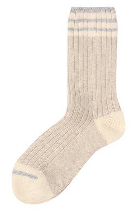 Мужские кашемировые носки BRUNELLO CUCINELLI бежевого цвета, арт. MCS93811 | Фото 1
