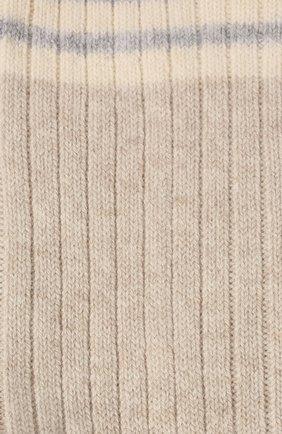 Мужские кашемировые носки BRUNELLO CUCINELLI бежевого цвета, арт. MCS93811 | Фото 2