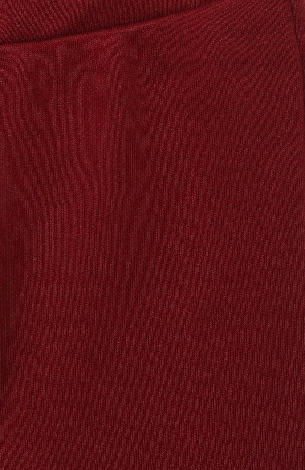 Детские хлопковые джоггеры EMPORIO ARMANI красного цвета, арт. 6HHP98/1JSNZ | Фото 3