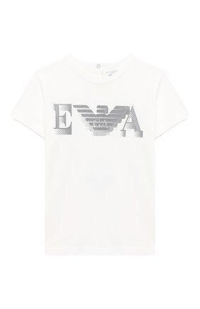 Детский комплект из двух футболок EMPORIO ARMANI белого цвета, арт. 6HHD22/4J09Z | Фото 2