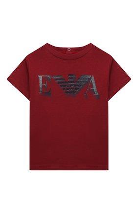 Детский комплект из двух футболок EMPORIO ARMANI красного цвета, арт. 6HHD22/4J09Z | Фото 2