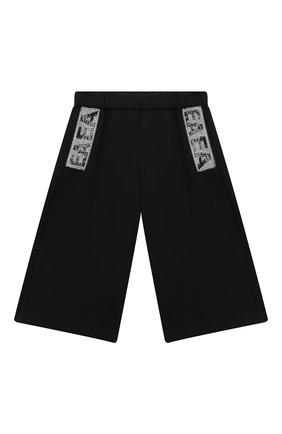 Детские хлопковые брюки EMPORIO ARMANI черного цвета, арт. 6HEP01/3J3PZ | Фото 1