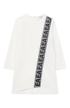 Женский хлопковое платье EMPORIO ARMANI белого цвета, арт. 6HEA15/3J3PZ | Фото 1