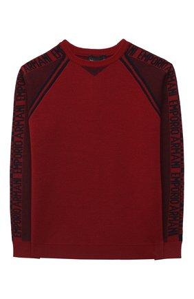 Детский пуловер EMPORIO ARMANI красного цвета, арт. 6H4MTA/1MDFZ   Фото 1