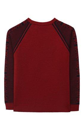 Детский пуловер EMPORIO ARMANI красного цвета, арт. 6H4MTA/1MDFZ   Фото 2