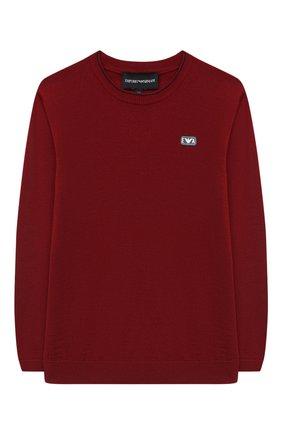 Детский пуловер EMPORIO ARMANI красного цвета, арт. 6H4M50/4M15Z   Фото 1