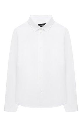 Детская хлопковая рубашка EMPORIO ARMANI белого цвета, арт. 6H4CA4/1NXXZ   Фото 1