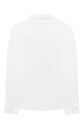 Детская хлопковая рубашка EMPORIO ARMANI белого цвета, арт. 6H4CA4/1NXXZ   Фото 2