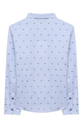 Детская хлопковая рубашка EMPORIO ARMANI светло-голубого цвета, арт. 6H4C80/1NC1Z   Фото 2
