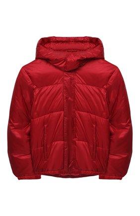 Детского куртка с капюшоном EMPORIO ARMANI красного цвета, арт. 6H4BL1/1NLSZ | Фото 1